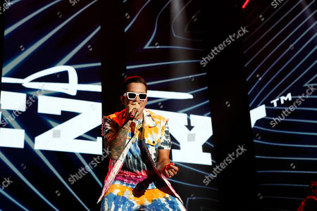 Stock Photo of De La Ghetto, Rafael Castillo. Singer De La Ghetto performs during the Coca-Cola Flow Reggaeton festival in Mexico City