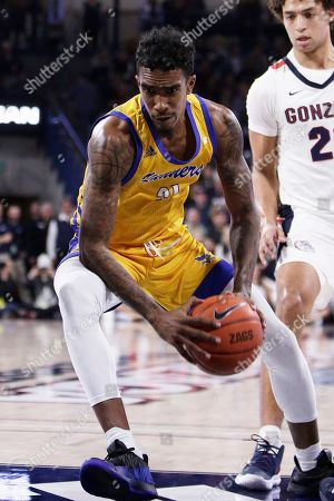 Cal State Bakersfield forward Greg Lee drives to the basket during the second half of an NCAA college basketball game against Gonzaga in Spokane, Wash