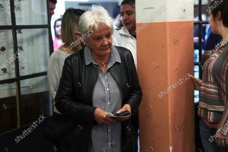 Uruguayan vice president Lucia Topolansky arives to cast her vote at a polling station in Montevideo, Uruguay, 24 November 2019. Uruguay holds the second roud of votation of the presidential elections.