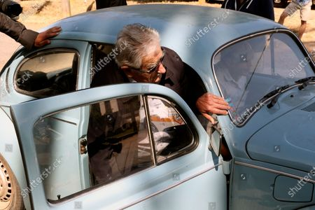 Uruguayan former president Jose Mujica departs after casting his vote at a polling station in Montevideo, Uruguay, 24 November 2019. Uruguay holds the second roud of votation of the presidential elections.