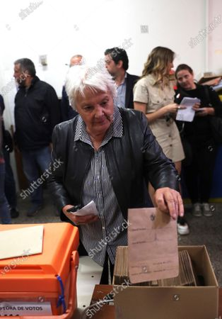 Uruguayan vice president Lucia Topolansky casts her vote at a polling station in Montevideo, Uruguay, 24 November 2019. Uruguay holds the second roud of votation of the presidential elections.