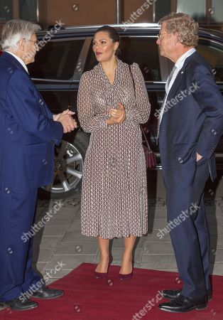 Stock Photo of Crown Princess Victoria, Jean-Claude Trichet and Jacob Wallenberg