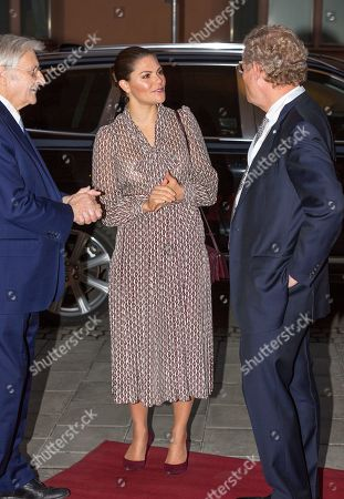 Stock Picture of Crown Princess Victoria, Jean-Claude Trichet and Jacob Wallenberg