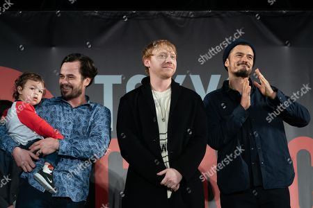 Stock Photo of Daniel Logan, Rupert Grint and Orlando Bloom during the closing ceremony