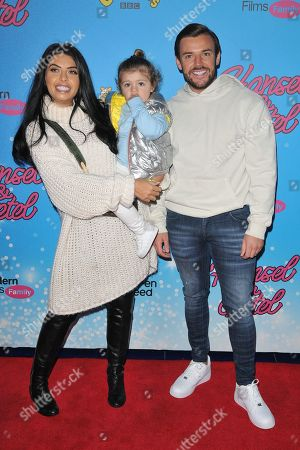 Stock Picture of Cara de la Hoyde and Nathan Massey and Freddie-George De La Hoyde Massey