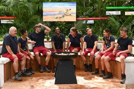 Bushtucker Trial, Jungle Love Island - Cliff Parisi, Adele Roberts, James Haskell, Ian Wright, Caitlyn Jenner, Andrew Maxwell, Jacqueline Jossa and Roman Kemp