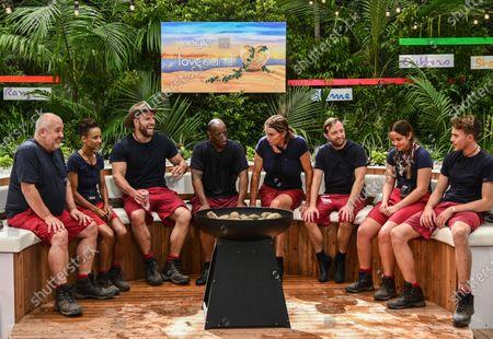 Live Bushtucker Trial, Jungle Love Island - Cliff Parisi, Adele Roberts, James Haskell, Ian Wright, Caitlyn Jenner, Andrew Maxwell, Jacqueline Jossa and Roman Kemp