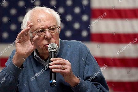 Editorial image of Election 2020 Bernie Sanders, Hillsboro, USA - 24 Nov 2019