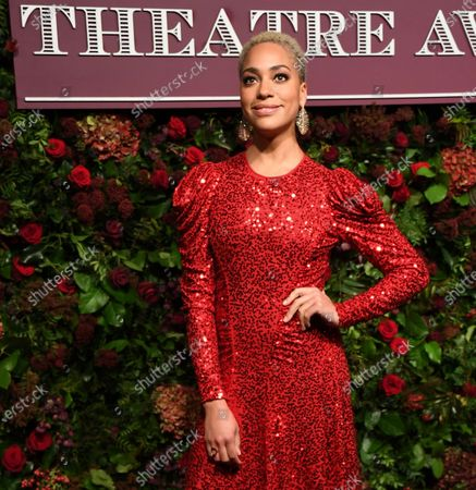 Cush Jumbo arrives to attend the 65th Evening Standard Theatre Awards in central London, Britain, 24 November 2019.