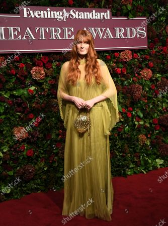 Florence Welch arrives to attend the 65th Evening Standard Theatre Awards in central London, Britain, 24 November 2019.