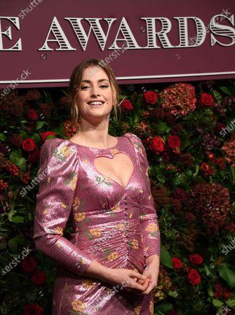 Stefanie Martini attends the Theatre Awards in central London, Britain, 24 November 2019.
