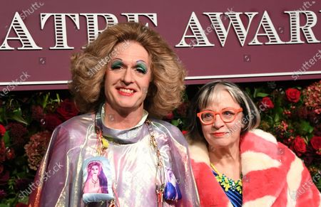 Grayson Perry (L) and his wife British author Philippa Perry attend the Theatre Awards in central London, Britain, 24 November 2019.