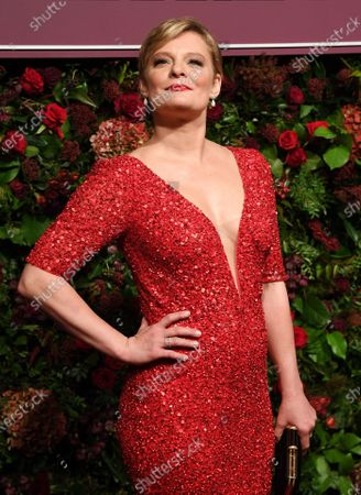Martha Plimpton attends the Theatre Awards in central London, Britain, 24 November 2019.