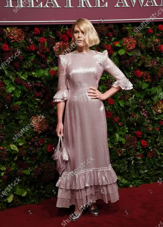 Hannah Arterton attends the Theatre Awards in central London, Britain, 24 November 2019.