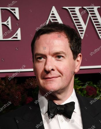 Former British Chancellor George Osborne attends the 65th Evening Standard Theatre Awards in central London, Britain, 24 November 2019.