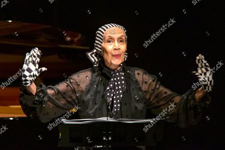 Stock Photo of Carmen de Lavallade speaks to attendees during the memorial of late actress Diahann Carroll at the Helen Hayes Theater on in New York