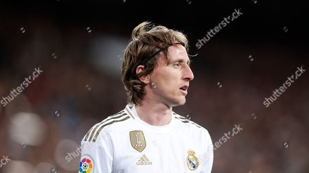 Real Madrid's Luka Modric during the Spanish La Liga soccer match between Real Madrid and Real Sociedad at the Bernabeu stadium in Madrid, Spain, Spain