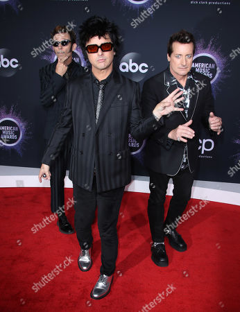 Stock Photo of Mike Dirnt, Billie Joe Armstrong and Tre Cool - Green Day