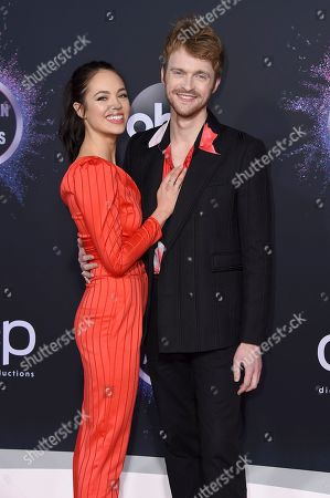 Claudia Sulewski, Finneas O'Connell. Claudia Sulewski, left, and Finneas O'Connell arrive at the American Music Awards, at the Microsoft Theater in Los Angeles