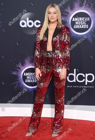 Stock Image of Kelsea Ballerini arrives at the American Music Awards, at the Microsoft Theater in Los Angeles