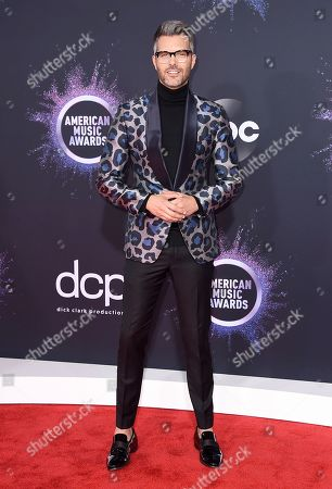 AJ Gibson arrives at the American Music Awards, at the Microsoft Theater in Los Angeles