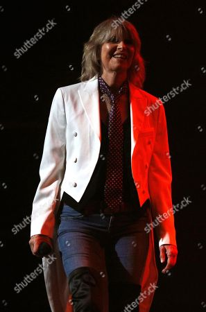 Stock Image of Chrissie Hynde in concert