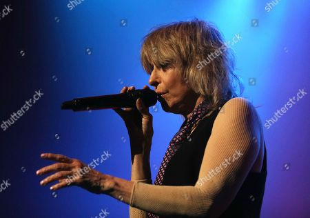 Stock Picture of Chrissie Hynde in concert
