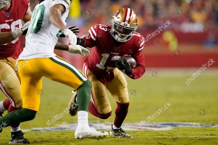 San Francisco 49ers' Richie James Jr. against the Green Bay Packers during an NFL football game in Santa Clara, Calif