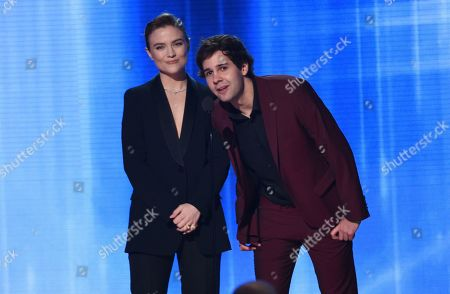 Maddie Hasson, David Dobrik. Maddie Hasson, left, and David Dobrik introduce a performance by Kesha and Big Freedia at the American Music Awards, at the Microsoft Theater in Los Angeles