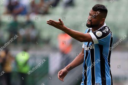 Editorial photo of Palmeiras v Gremio, Campeonato Brasileiro, Round 34, Football, Allianz Parque, Sao Paulo, Brazil - 24 Nov 2019