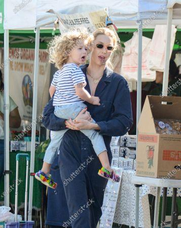 Whitney Port and Sonny Sanford Rosenman at Farmers Market