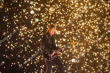 Stock Picture of Keith Urban performs during the halftime show of the Grey Cup CFL football game, in Calgary, Alberta