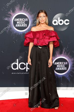Stock Photo of Australian journalist Renee Bargh arrives for the 2019 American Music Awards at MMicrosoft Theater L.A. LIVE in Los Angeles, California, USA, 24 November 2019.