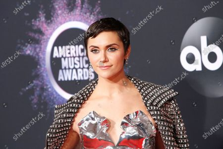 Alyson Stoner arrives for the 2019 American Music Awards at MMicrosoft Theater L.A. LIVE in Los Angeles, California, USA, 24 November 2019.