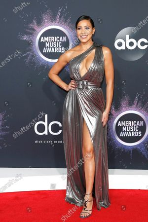 Julissa Bermudez arrives for the 2019 American Music Awards at MMicrosoft Theater L.A. LIVE in Los Angeles, California, USA, 24 November 2019.