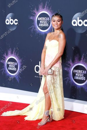 Agnez Mo arrives for the 2019 American Music Awards at MMicrosoft Theater L.A. LIVE in Los Angeles, California, USA, 24 November 2019.