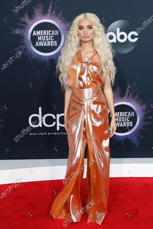 Pia Mia Perez arrives for the 2019 American Music Awards at MMicrosoft Theater L.A. LIVE in Los Angeles, California, USA, 24 November 2019.