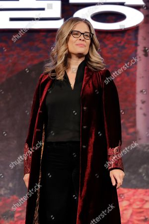 "Director Jennifer Lee poses for the media before a press conference for her new movie ""Frozen 2"" in Seoul, South Korea"