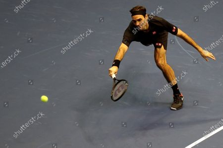 Editorial photo of Federer and Zverev play exhibition match in Quito, Ecuador - 24 Nov 2019