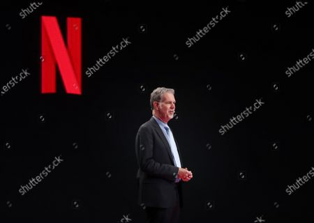 Netflix CEO Reed Hastings delivers a speech at the 2019 Culture Innovation Summit at Busan Exhibition and Convention Center (BEXCO) in Busan, South Korea, 25 November 2019. The Culture Innovation Summit is being held on the sidelines of the special summit between the Association of Southeast Asian Nations (ASEAN) and the Republic of Korea (ROK).
