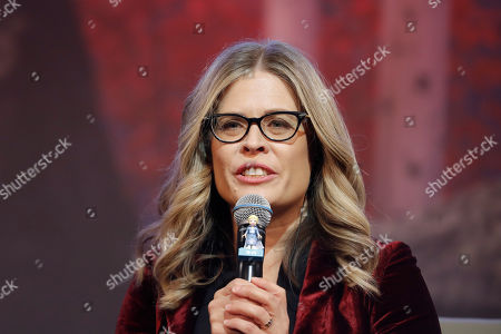 "Director Jennifer Lee speaks during a press conference for her new movie ""Frozen 2"" in Seoul, South Korea"