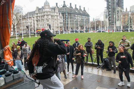 Independent youth campaigners, Rize Up host guerilla gig on Parliament Square with Lady Leshurr to encourage marganilised young people to register to vote by 26th November deadline.