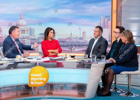 Piers Morgan, Susanna Reid, Paul Burrell, Tom Slater and Eve Pollard