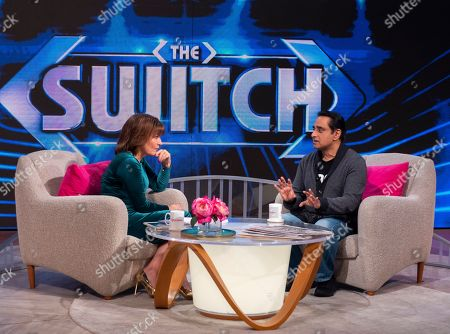 Lorraine Kelly and Sanjeev Bhaskar