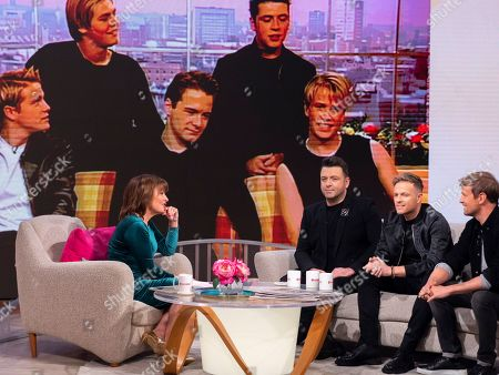 Lorraine Kelly with Westlife - Mark Feehily, Nicky Byrne and Kian Egan