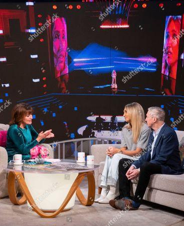 Lorraine Kelly, Megan McKenna and Louis Walsh