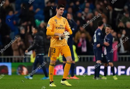 Goalkeeper Thibaut Courtois of Real Madrid at the full-time whistle