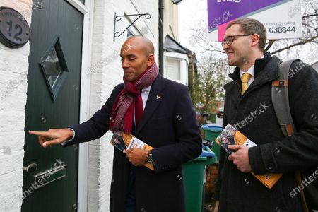 Liberal Democrat Foreign Affairs Spokesman and candidate of Cities of London & Westminster, Chuka Umunna and Liberal Democrat candidate for Watford, Ian Stotesbury canvassing in Watford