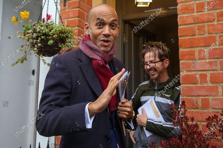 Liberal Democrat Foreign Affairs Spokesman and candidate of Cities of London & Westminster, Chuka Umunna speaks with a resident during national canvassing in Watford.