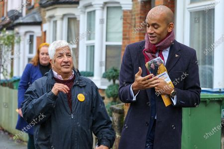 Liberal Democrat Foreign Affairs Spokesman and candidate of Cities of London & Westminster, Chuka Umunna joins Councillor for Central Watford Ward, Rabindranath Martins during national canvassing in Watford